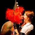 Ophelia Bitz kisses undead punter on Halloween