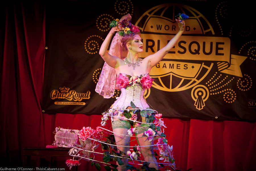 Marlene von Steenvag performs a dreamlike style of burlesque, beautiful and moving
