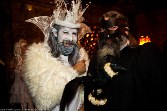 Two of the revellers at the Goblin Masquerade Ball