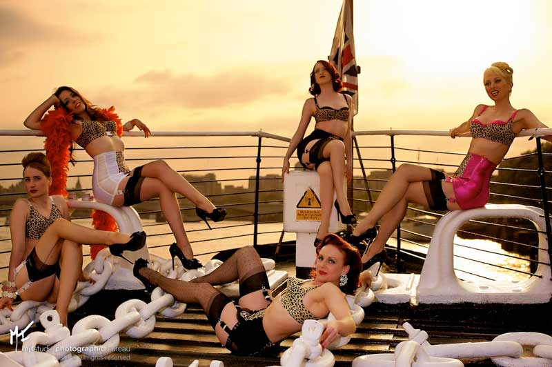World Burlesque Games - Secrets in Lace models - Boat
