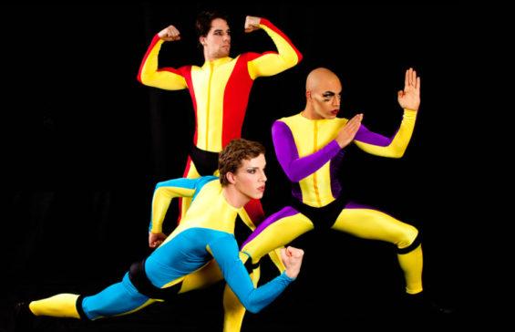Boylesque troupe Mod Carousel (Paris Original, Trojan Original and Luminous Pariah) in recent London show Wham! Bam! Kaboom!