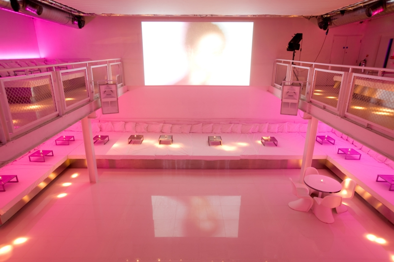 As well as the intimate downstairs space, there are beds and tables in the upstairs balcony area.