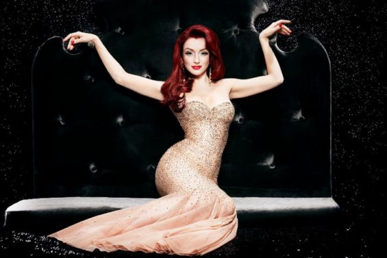 Miss Polly Rae hosts and stars in burlesque revue Between the Sheets at The Hippodrome