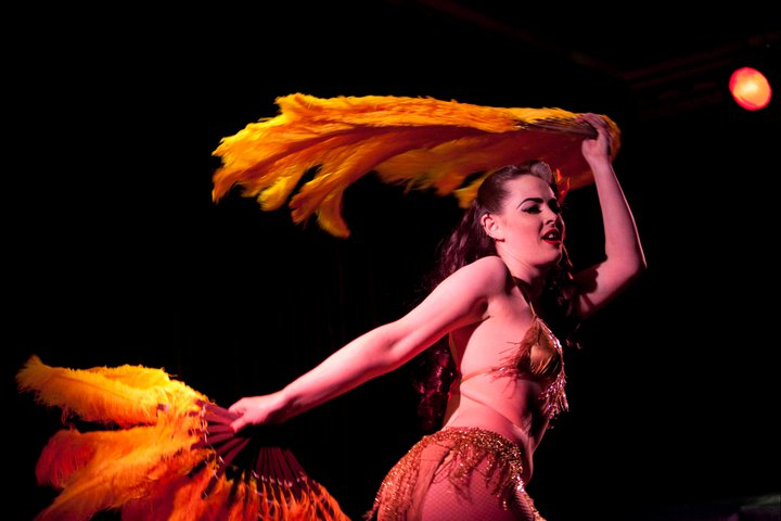 Burlesquer Missy Malone is one of the artists who've graced the stage of free revue Midnight Kabarett