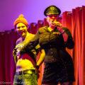Compère Lady Beau Peep takes revenge on a cheating audience member