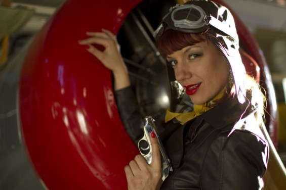 Kiki Kaboom as Bombshell Bells in the film Burlesque Assassins