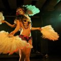 Cherry and Ruby are a rare burlesque duo in a scene dominated by solo performers and the occasional troupe.