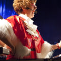 Lorraine Bowen, star of Polyester Fiesta, was in festive mood.