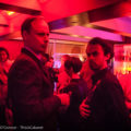 Real stand-up guys: Asher Treleaven and Marcel Lucont exchange secrets in the VIP lounge at Café de Paris