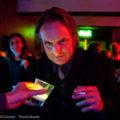 Lighting designer Ben Ratcliffe dons his own colour scheme at the last La Rêve after-party