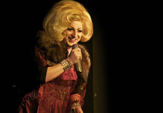WInner of the Best Drag Act last year, Myra DuBois hosted last night's London Cabaret Awards 2014