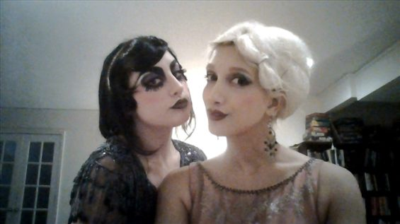 Aurora Galore (l) and Sukki Singapora (r) at a Great Gatsby Night.Out_700x393
