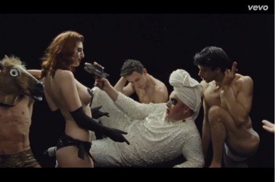 Sophia St Villier and Scottee in the video for Franz Ferdinand's Love illumination