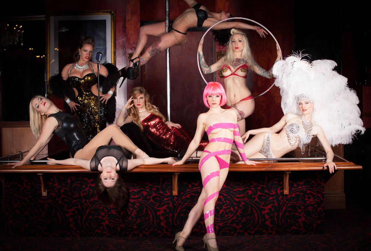 Veronica Blacklace (second left) with some of Showcase's revolving cast of performers.