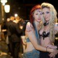 Partygoers at Dark Circus, September 2013