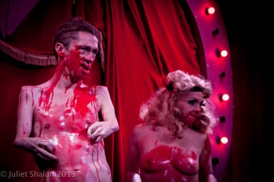 Mat Fraser getting bloody on stage at the award-winning Double R Club.