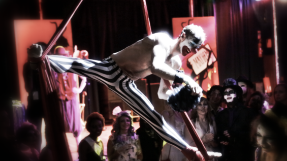 """This year's White Mischief Halloween Ball was themed around """"Births, Deaths and Marriages"""""""