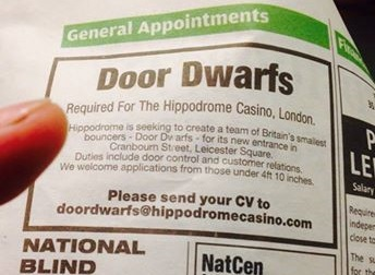 The Hippodrome Casino's advertisement
