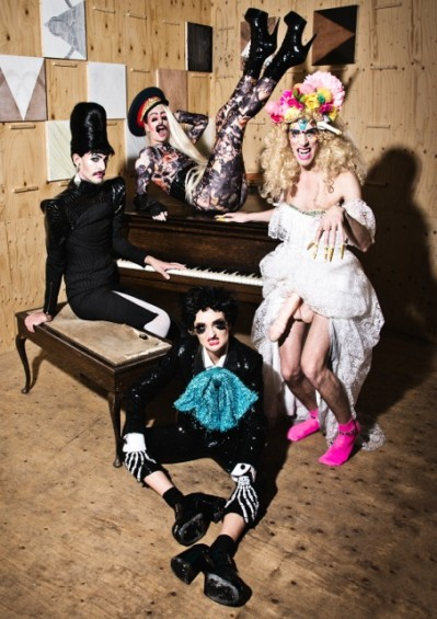 Bourgeois & Maurice have joined forces with Sink The Pink's Glyn Famous and Amy Zing for Santamental this Friday.