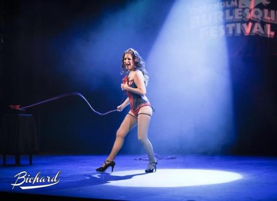 US star Minnie Tonka at the Stockholm Burlesque Festival 2013