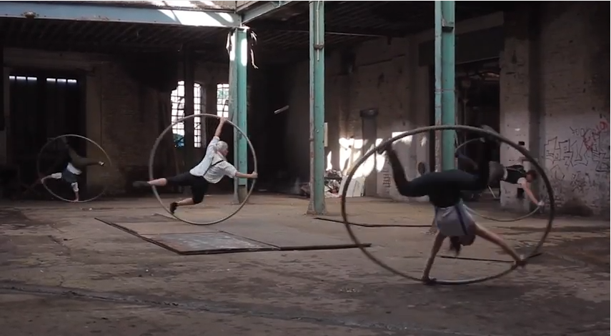 Watch This London Circus Crew Spectacularly Take Over An Abandoned East End Factory