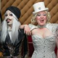 Producer Mark Charade and MC Ophelia Bitz at 3 Serpent Circus