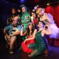Peter Pandemonium pantomime, where the cast include Piff the Magic Dragon, Mister Piffles and Laurie Hagen – all of whom have since been stolen by Vegas. Rest of pic: Sally Samad, Jamie Anderson, Dusty Limits, Louise Hollamby and Rebecca Finlay-Hall.