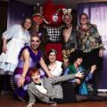 Cast and crew of the 2012 panto, Alice In Poundland; Holly Aisbitt, Louise Hollamby, Paul L Martin, Steven Whyte, Vanessa Pope, Jamie Anderson, Rebecca Finlay-Hall, Fancy Chance and Larissa M Sauer.