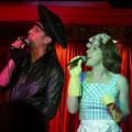 Sarah-Louise Young and Mister Meredith as hosts of Cheese 'n' Crackers - approx. 2006