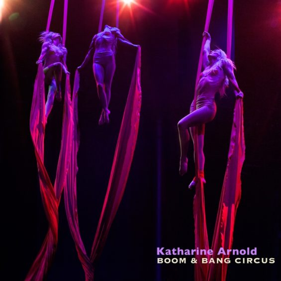 Up, up and away: Katharine Arnold is an aerial marvel and mistress of the silks.