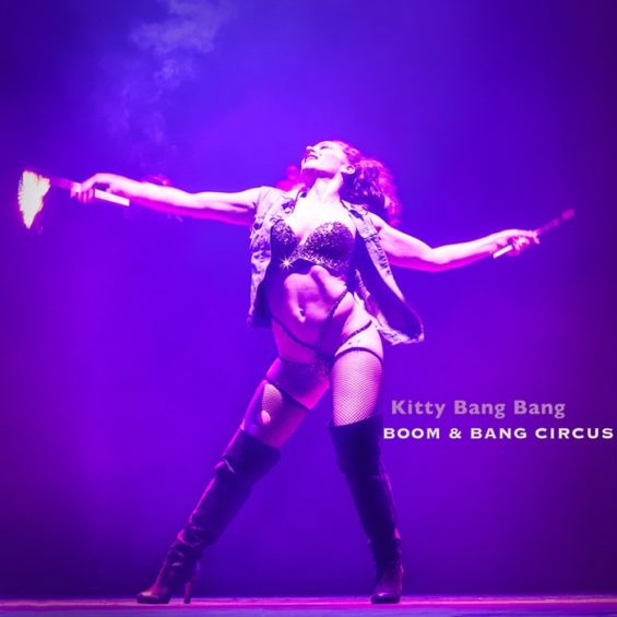 Both Kitty Bang Bang and her co-producer husband Bioux Le Hayes performed at the Roundhouse.