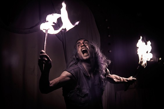 "Heavy Metal Pete, ""Sometimes my anger at the fire is evident""  Image:  Gh0stdot"