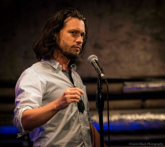Mike Galsworthy performing at Word Cafe. Image: Gavin Black Photography