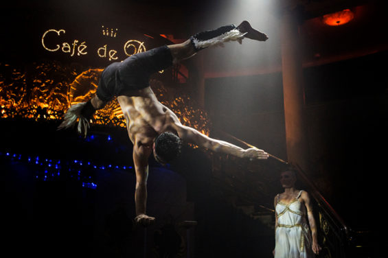 Sammy Dineen as Icarus, one of the stars of the Cafe de Paris' Cabaret des Distractions. Image: Al Veryard