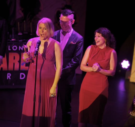 Twice Shy Theatre won the Best Alternative Performer award at the London Cabaret Awards 2015. Image (c) Lisa Thomson