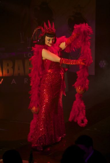 Bettsie Bon Bon's floor-melting performance at the London Cabaret Awards 2015. Image (c) Lisa Thomson