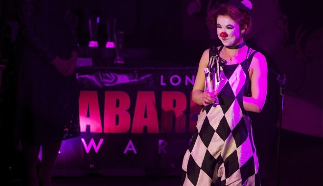 Audience Award winner Dott Cotton at the London Cabaret Awards 2015. Image (c) Lisa Thomson