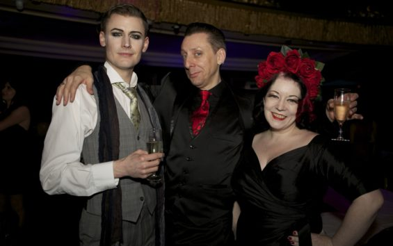 (l-r) Dusty Limits, Benjamin Louche and Rose Thorne at the London Cabaret Awards 2015. Image (c) Lisa Thomson