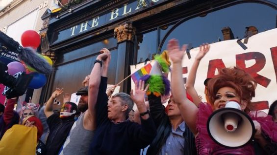 The Black Cap Protest 18 April 2015 Image: Franco Milazzo for This Is Cabaret