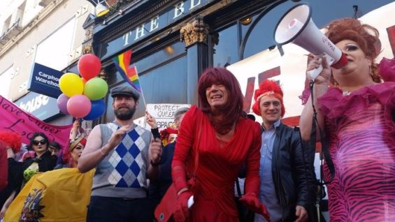 The Black Cap Protest 18 April 2015. Image: Franco Milazzo for This Is Cabaret