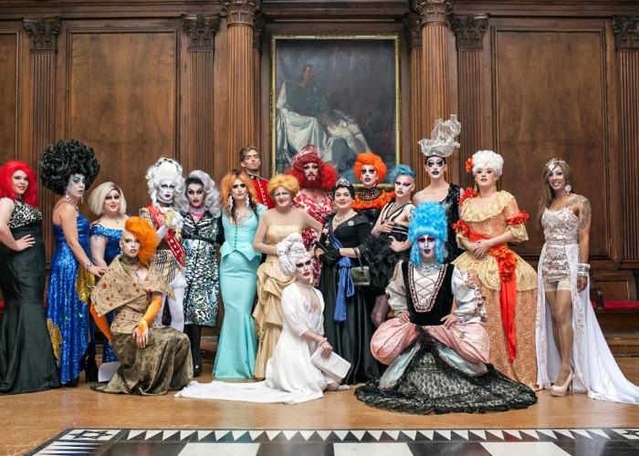 Attendees at the GHT drag ball raising money for GHT welfare fund. Image: Lee Baxter