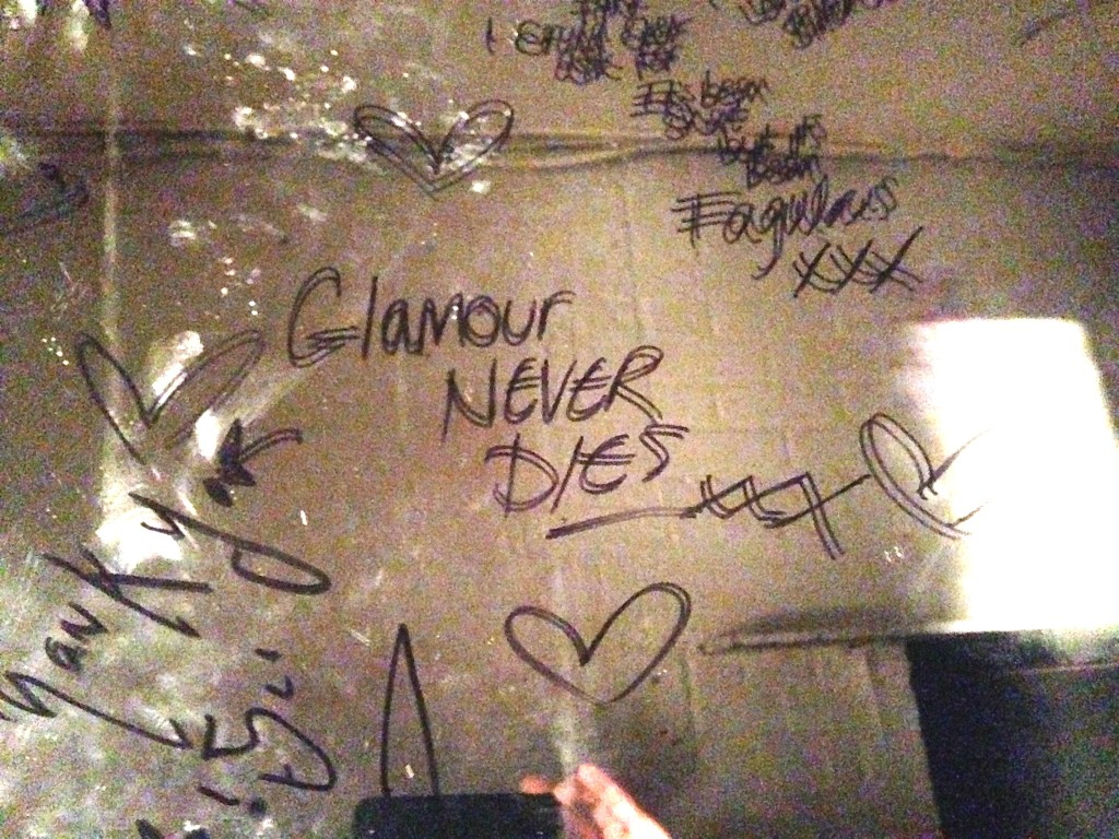 """Glamour Never Dies"" Taken inside The Black Cap by Ben Walters."