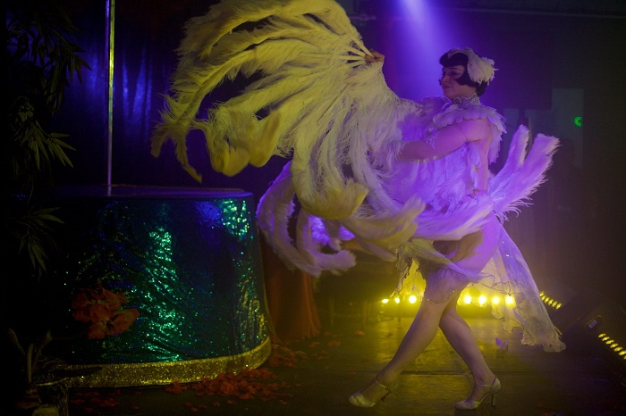 Vicky Butterfly at The Blue Fez. Image: Sin Bozkurt. Do not reproduce without permission.