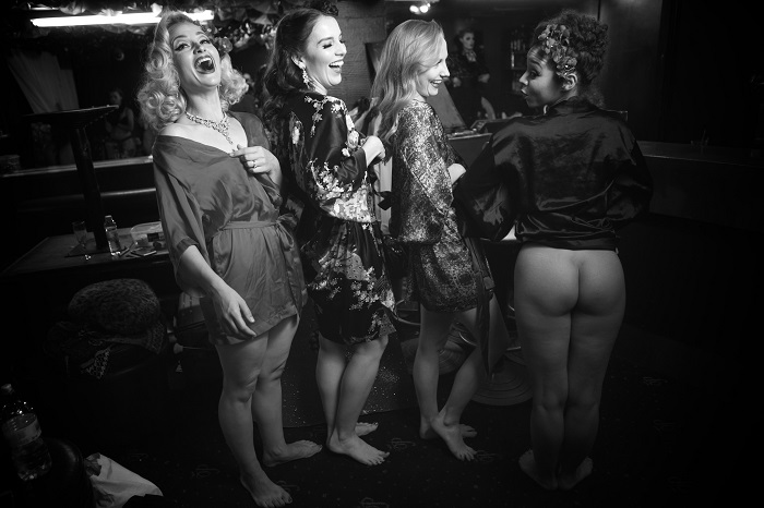 Behind the scenes with The Folly Mixtures' shoot for the 2017 All Nude Cabaret Charity Calendar. Photo © Sin Bozkurt. Please do not reproduce without permission.